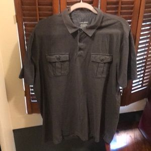 Classic & Essential Gray Banana Republic Polo- XXL